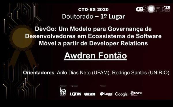 Melhor Tese de Doutorado em Engenharia de Software do Brasil em 2019